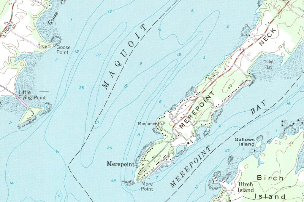 map of Maquoit bay